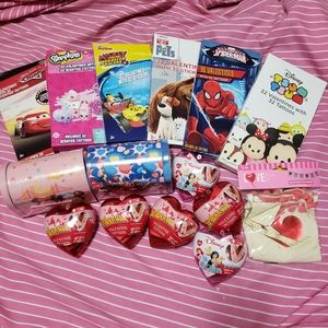 Assorted valentines goodies party giveaway